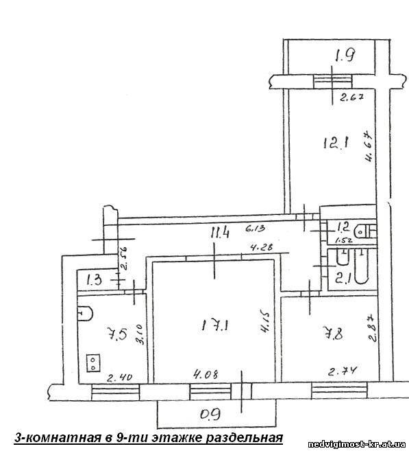 3-комнатные квартиры и больше